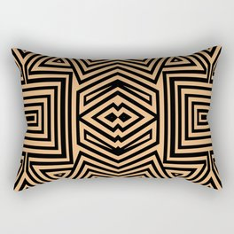 African Geometric Tribal Pattern 2 Rectangular Pillow