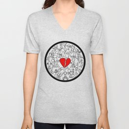 Keith Haring-Inspired Project Unisex V-Neck