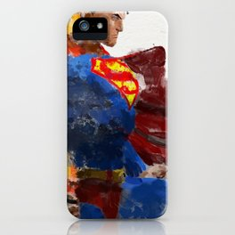 Watercolour Superman iPhone Case