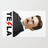 tesla Area & Throw Rugs featuring Tesla by Vi Sion