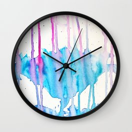 A flower blooms amid a storm Wall Clock