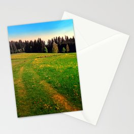 Outdoors in sunny spring Stationery Cards