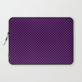 Winterberry and Black Polka Dots Laptop Sleeve