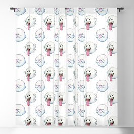 Ghost Boo Pattern, Halloween Pattern Blackout Curtain