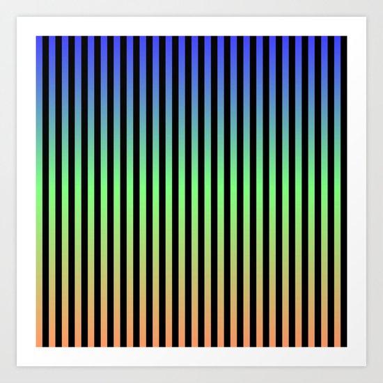 Vertical Stripes - Tricolor Art Print