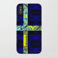 sweden iPhone & iPod Cases featuring circuit board Sweden (Flag) by seb mcnulty