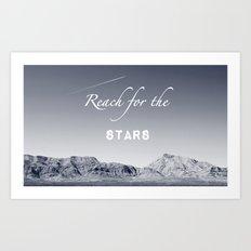 Reach for the Stars (b&w)  Art Print