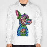 folk Hoodies featuring Folk Art Puppy by ArtLovePassion