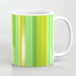 vertical stripes yellow and green Coffee Mug