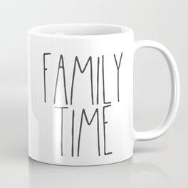 Family Time Text Coffee Mug