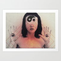 third eye Art Prints featuring Third Eye by Isaak_Rodriguez