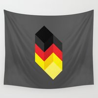 germany Wall Tapestries featuring Germany by Dizzy Moments