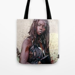Michonne On The Walls Of Alexandria - The Walking Dead Tote Bag