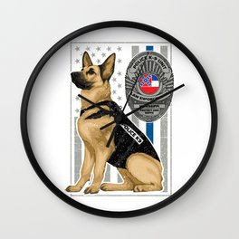 K9 Unit Flag MISSISSIPPI copy Wall Clock