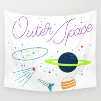 outer space Wall Tapestries featuring Outer Space! by Conscious Transmitter