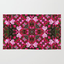 Spring blossoms kaleidoscope - Strawberry Parfait Crabapple Rug