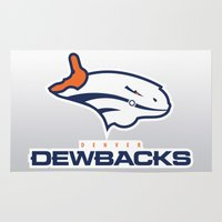 nfl Area & Throw Rugs featuring Denver Dewbacks - NFL by Steven Klock