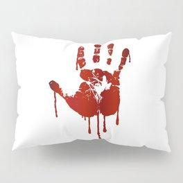 Bloody halloween hand Pillow Sham