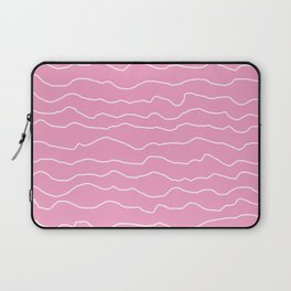 Pink with White Squiggly Lines Laptop Sleeve