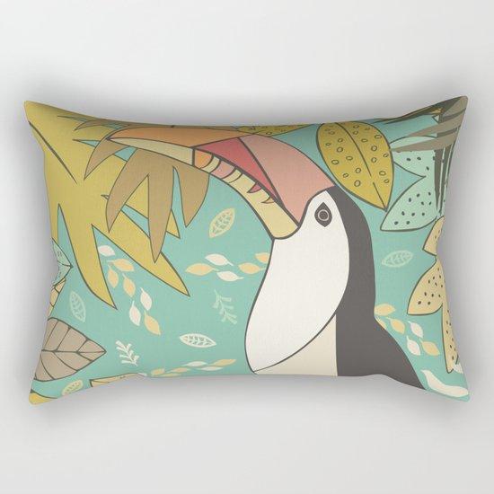Forest Toucan  Rectangular Pillow