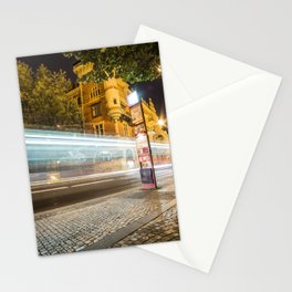 Light Night Traffic in the City Stationery Cards