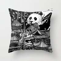 china Throw Pillows featuring China by Matt Ferguson