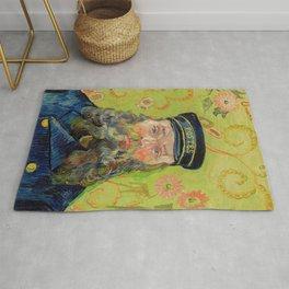 Vincent Van Gogh - Portrait of the Postman Joseph Roulin Rug