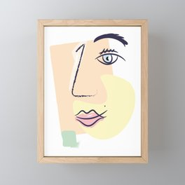 Women Face Framed Mini Art Print