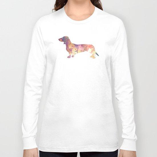Dachshund hunt art print Long Sleeve T-shirt