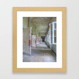 Lost Places, Beelitz Heilstaetten hallway Framed Art Print