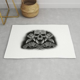 Skull and Revolvers Rug