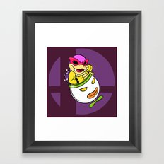 SUPER SMASH BROS: Roy's Our Boy! (NO TEXT) Framed Art Print