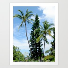 Beautiful Hawaiian Palms Art Print
