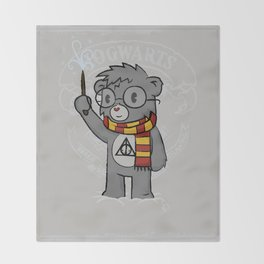 Bearry Potter Throw Blanket