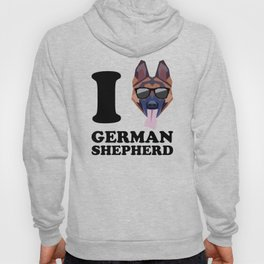 I Love German Shepherd modern v1 Hoody