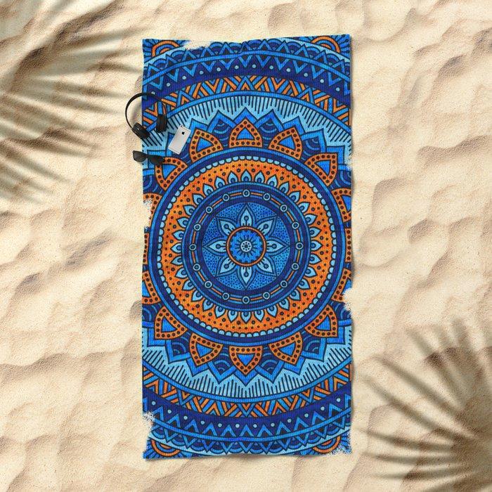 Hippie mandala 36 Beach Towel