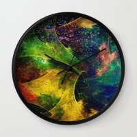 blanket Wall Clocks featuring Blanket of Stars 2 by Klara Acel