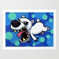 Portrait of a Polar Bear as a Young Cub Art Print