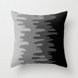 Splash of colour (gray) Throw Pillow