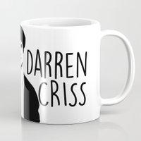 darren criss Mugs featuring Darren Criss with guitar! by byebyesally
