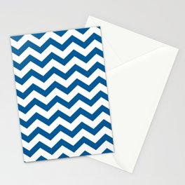 Navy Chevron Stationery Cards
