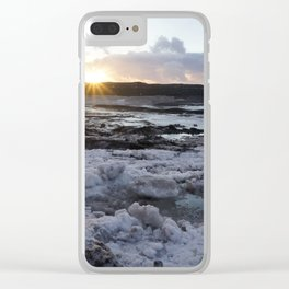 Sunrise on a Glacier- Iceland Clear iPhone Case