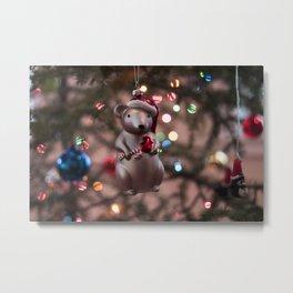 Christmas Mouse Photography Print Metal Print