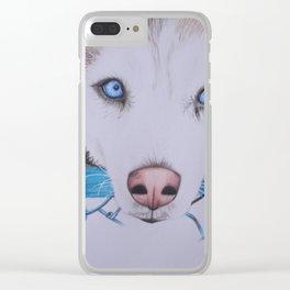 Husky Siberian Clear iPhone Case