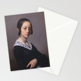 Portrait of Louise-Antoinette Feuardent Jean-François Millet Stationery Cards