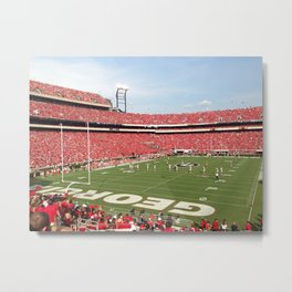 UGA Game Metal Print