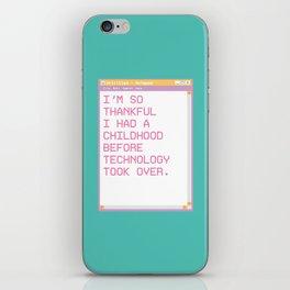 Notepad'96 Turquoise iPhone Skin