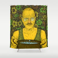 cook Shower Curtains featuring Cook (green) by Lime