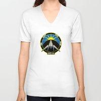 starfox V-neck T-shirts featuring The Lylat Space Academy by John Medbury (LAZY J Studios)