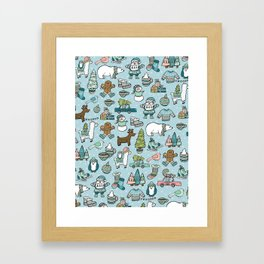 Whimsical Christmas, Sweater Weather, Fa La La La La, Holly Jolly, Holiday Print, Tis The Season Framed Art Print